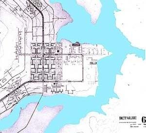 Plano Piloto de Brasília, 1957. Detalhe
