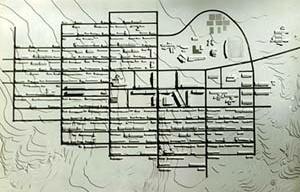 A cidade de Caraíba, (Pilar), Jaguarari, BA, 1978. Maquete de implantação