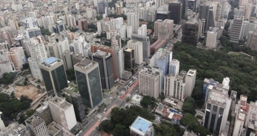 Vista aérea da Avenida Paulista, 2015<br />Foto Mariana Meidani Ripoli / Jonathas Magalhães Pereira da Silva