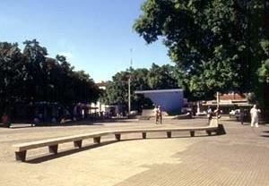 Praça Rui Barbosa, antigo Largo do Rosário, renovada sob o traço de Luzimar Cerqueira Goes Telles, Cataguases MG<br />Foto Antonio L. D. de Andrade / Cecília Rodrigues dos Santos