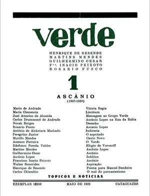 "Revista modernista ""Verde"", capa nº 1. Cataguases MG, 1929"