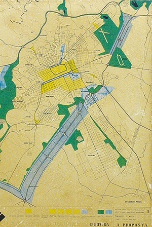 Plano Preliminar de Urbanismo de Curitiba, Sociedade Serete de Estudos e Projetos Ltda. e Jorge Wilheim Arquitetos Associados [Jorge Wilheim Consultores Associados. Imagem ampliada: http://www.vitruvius.com.br/arquite]