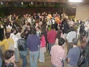 Confraternização no campus<br />Foto Ângelo Arruda