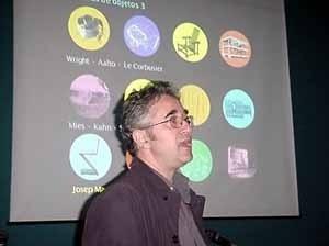 Montaner  em palestra da abertura<br />Foto Ângelo Arruda
