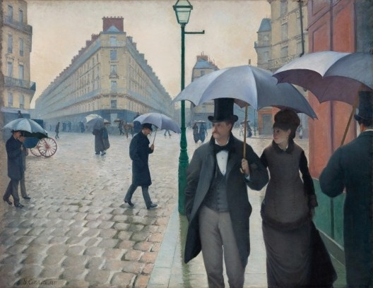 """""""Paris Street, Rainy Day"""", Gustave Caillebotte, 1877<br />Imagem divulgação  [Art Institute of Chicago]"""