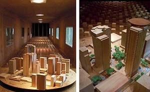 Modelos do Edifício Brascan Century Plaza, em São Paulo, ensaiados no Túnel de Vento da UFRGS [SOUZA, 2003]