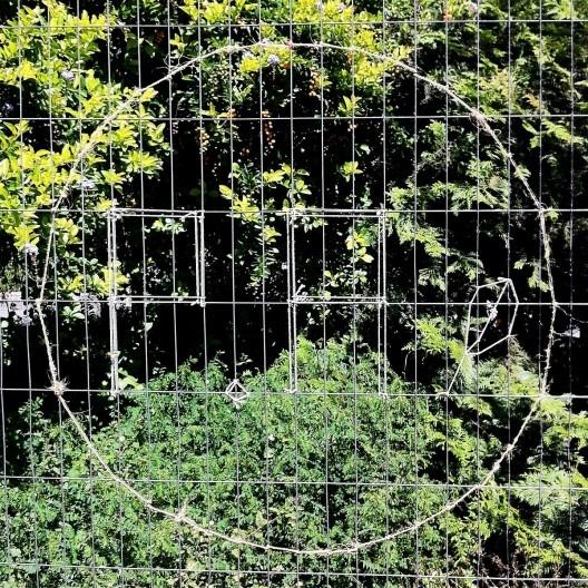 Símbolo improvisado no gradil do Parque Augusta<br />Foto Abilio Guerra