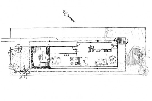 Figura 22 – Vilanova Artigas, Casa Martirani, São Paulo, 1969, planta térrea [ARTIGAS, Rosa et alli (org)]