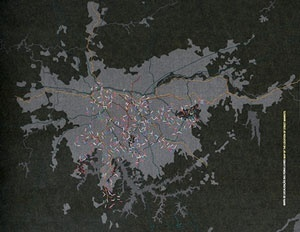 Mapa de localização das feiras livres de São Paulo. Site da Prefeitura Municipal de São Paulo
