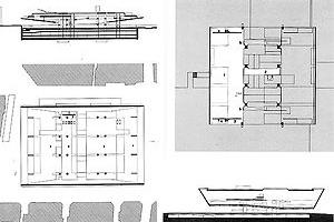 Figuras 33 e 34 – Paulo Mendes da Rocha, Centro Cultural Georges Pompidou, Paris, 1971; Paulo Mendes da Rocha, Museu de Arte Contemporânea da USP, São Paulo, 1975 [ARTIGAS, Rosa (org)]