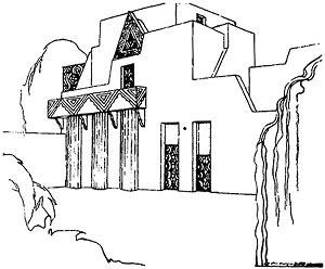 Projeto de Residência. Antonio Garcia Moya, 1928. Fonte: Arte no Brasil, Abril Cultural, 1979, p. 743
