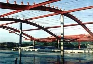 Centro Comercial Europark, Salzburg, Áustria, maio 1996 – M. Fuksas. Detalhe da cobertura
