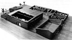 Sigürd Lewerentz, Igreja de São Pedro, Klippan, maquete [Janne Ahlin, Sigurd Lewerentz, p.37]