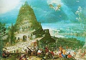 """Hendrick van Cleve, """"Torre de Babel"""", Stockholm University, Estocolmo"""