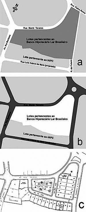 Conjunto Residencial Praça Fleming, em Recife de Acácio Gil Borsoi – exemplo de empreendimento financiado pelo BHLB Fonte: Izabel Amaral e Guilah Naslavsky, Praça Fleming: um conjunto residencial orgânico? [www.vitruvius.com.br/arquitextos/arq000/esp190.asp]