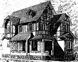 Estudo residencial, desenho de Jader Passarinho [p. 175 do livro]