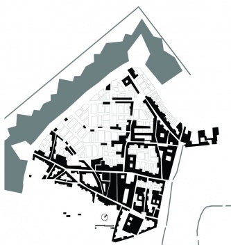 Representación del sector hacia S. XVIII [dibujo de la autora]
