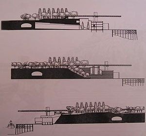 Fachadas e cortes do edificio [Revista A/mbiente, n. 46, julio1985, La Plata]