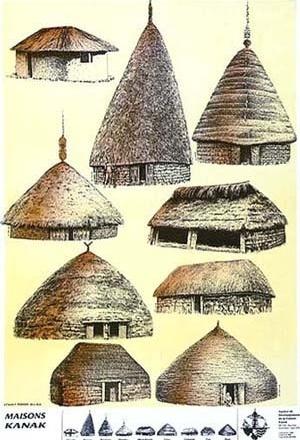 Modelos de construções Kanak [Renzo Piano Building Workshop]