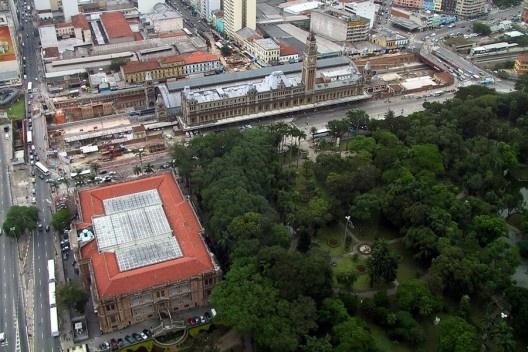 Estação da Luz, Pinacoteca do Estado e Parque da Luz, São Paulo<br />Foto Nelson Kon