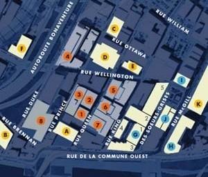 Cidade Multimídia em Montreal, localização [CDTI – Information Technology Development Centres]