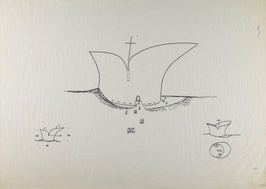 Templo, croqui de Oscar Niemeyer<br />Imagem divulgação  [Fundação Oscar Niemeyer]