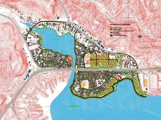 Novos Alagados, implantação, Salvador, 2003. Arquiteto Demetre Anastassakis<br />Foto divulgação