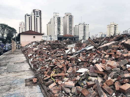 Sítio da antiga vila operária João Migliari, demolida no início de setembro de 2019<br />Foto Gabriel de Andrade Fernandes