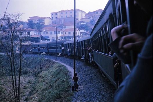 Trem da Cantareira, São Paulo<br />Foto divulgação, 1963