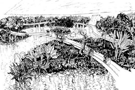 Parque do Flamengo, vista do jardim do Aquário, Rio de Janeiro RJ. Roberto Burle Marx, 1969 [ver nota 45]