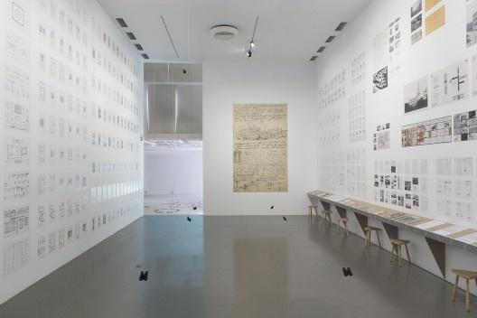 """Exposição """"Economia de meios"""", Trienal de Arquitetura de Lisboa 2019<br />Foto Fabio Cunha"""