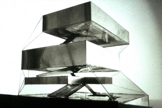 Biblioteca Pública, perspectiva, Seattle. Rem Koolhaas / OMA, 2004<br />Desenho OMA  [Image courtesy of the Office for Metropolitan Architecture (OMA)]