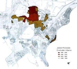 Mancha da evolução Urbana de João Pessoa