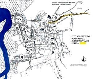Superação de limites: primeiro eixo da expansão urbana na direção nordeste