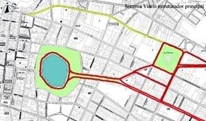 Percurso da Avenida Epitácio Pessoa e o segundo eixo da expansão urbana com o seu sistema viário estruturador principal. Lagoa do Parque Solon de Lucena