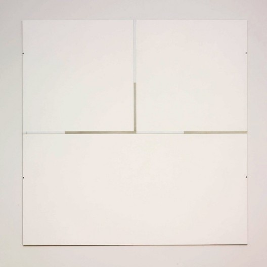 "Robert Ryman, ""The Elliott Room: Charter V"", 1987, series 1985-1987<br />Imagem divulgação  [Art Institute Chicago / Cortesia Pace Wildenstein]"