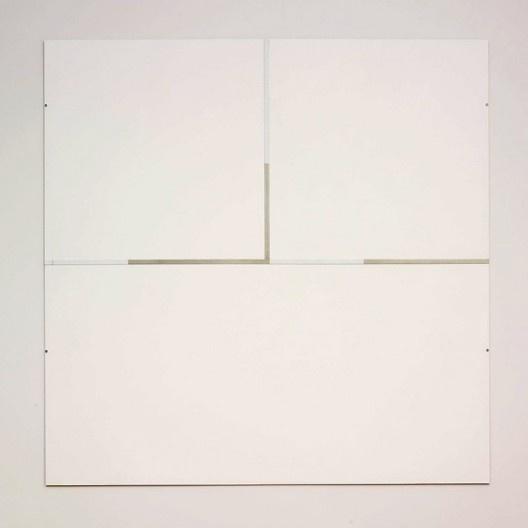 "Robert Ryman, ""The Elliott Room: Charter V"", 1987, series 1985-1987<br />Imagem divulgação  [Art Institute Chicago / Cortesia Pace Wildenstein]"