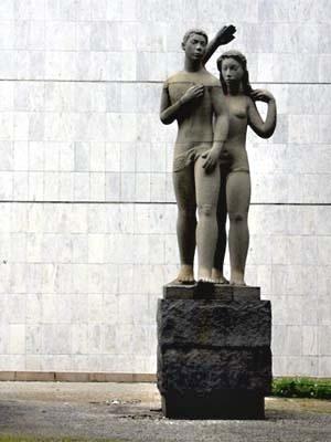 Monumento à Juventude Brasileira, Bruno Giorgi. Jardins térreo
