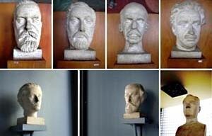 Bustos – Machado de Assis, José de Alencar, Rui Barbosa, Oswaldo Cruz, Castro Alves, Gonçalves Dias, Bruno Giorgi. Busto Getúlio Vargas, Celso Antonio