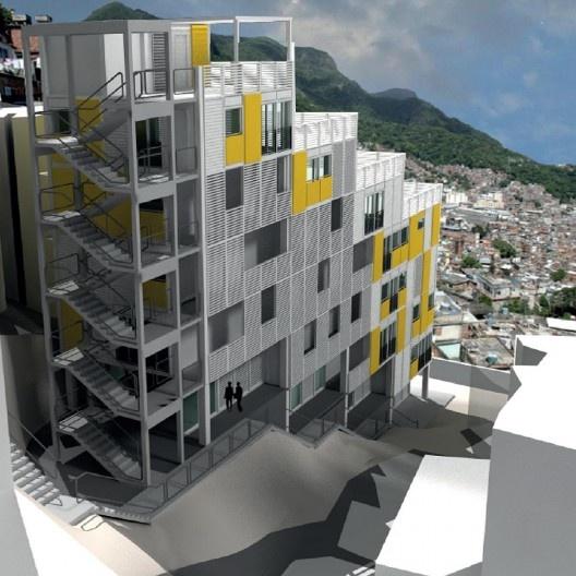 Tipologia habitacional para habitação de interesse social. Arquiteto Luiz Carlos Toledo e equipe<br />Imagem divulgação