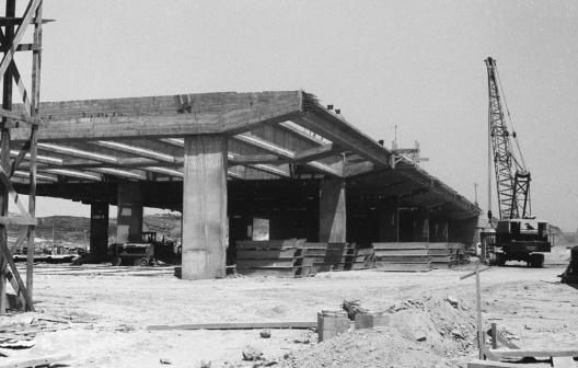 03 de setembro de 1959. A portentosa estrutura de concreto moldada in loco [Arquivo Público do Distrito Federal]