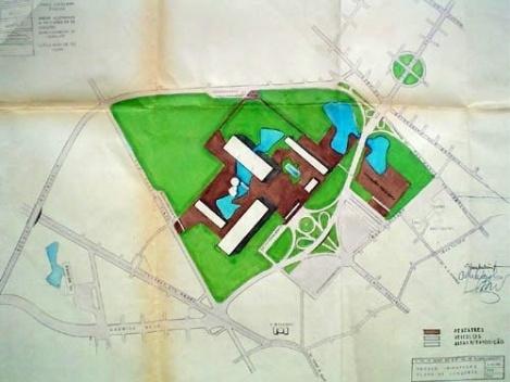 Plano de Conjunto, 1951. Autor: Equipe de Planejamento [Acervo Divisão do Arquivo Histórico Municipal de São Paulo – DPH/SMC/PMSP]