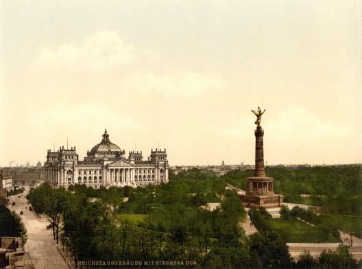 Reichstag, Berlim, 1900  <br />Foto divulgação  [Wikimedia Commons]