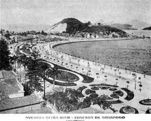 Avenida Beira-mar, Enseada de Botafogo [O Rio de Janeiro de Pereira Passos: Uma Cidade em Questão II. Rio de Janeiro, Index, 1985]