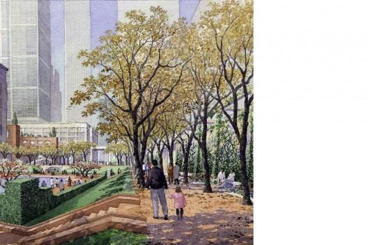 Concurso para reconstrução do local do World Trade Center, Peterson/Littenberg Architecture and Urban Design [Lower Manhattan Development Corporation]
