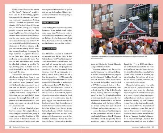 Pages from the guide<br />Imagem divulgação  [<i>São Paulo 10 Walking Tours</i>]
