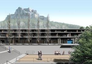 Instituto de ensino secundário, Morella, Espanha, 2001