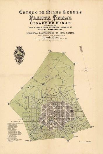 """A denominação do arraial onde se implantou a capital """"Belo Horizonte"""" havia sido mudada para """"Cidade de Minas"""", mas o nome dado na Republica voltou e prevalece desde 1901<br />Imagem divulgação  [ANGOTTI-SALGUEIRO, Heliana. <i>A casaca do Arlequim</i>, p. 117]"""