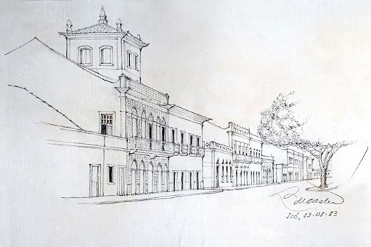 Croquis de Liberal de Castro da Cidade de Icó-Ceará (1983) [Acervo Pessoal de Liberal de Castro]