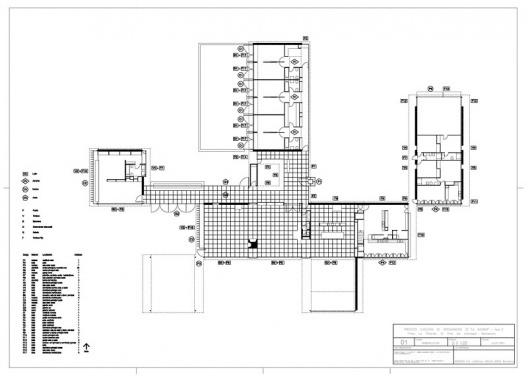 """Proyecto ejecutivo de restauración de """"La Ricarda"""", fase 2. Planta. Arquitectos Fernando Álvarez y Jordi Roig (de julio de 2001)"""
